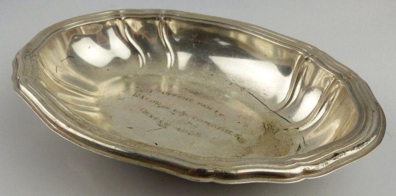 Alte Schale in 800 (Ag) Silber ca. 113,9 g graviert Genf 1935 Französic, norb842