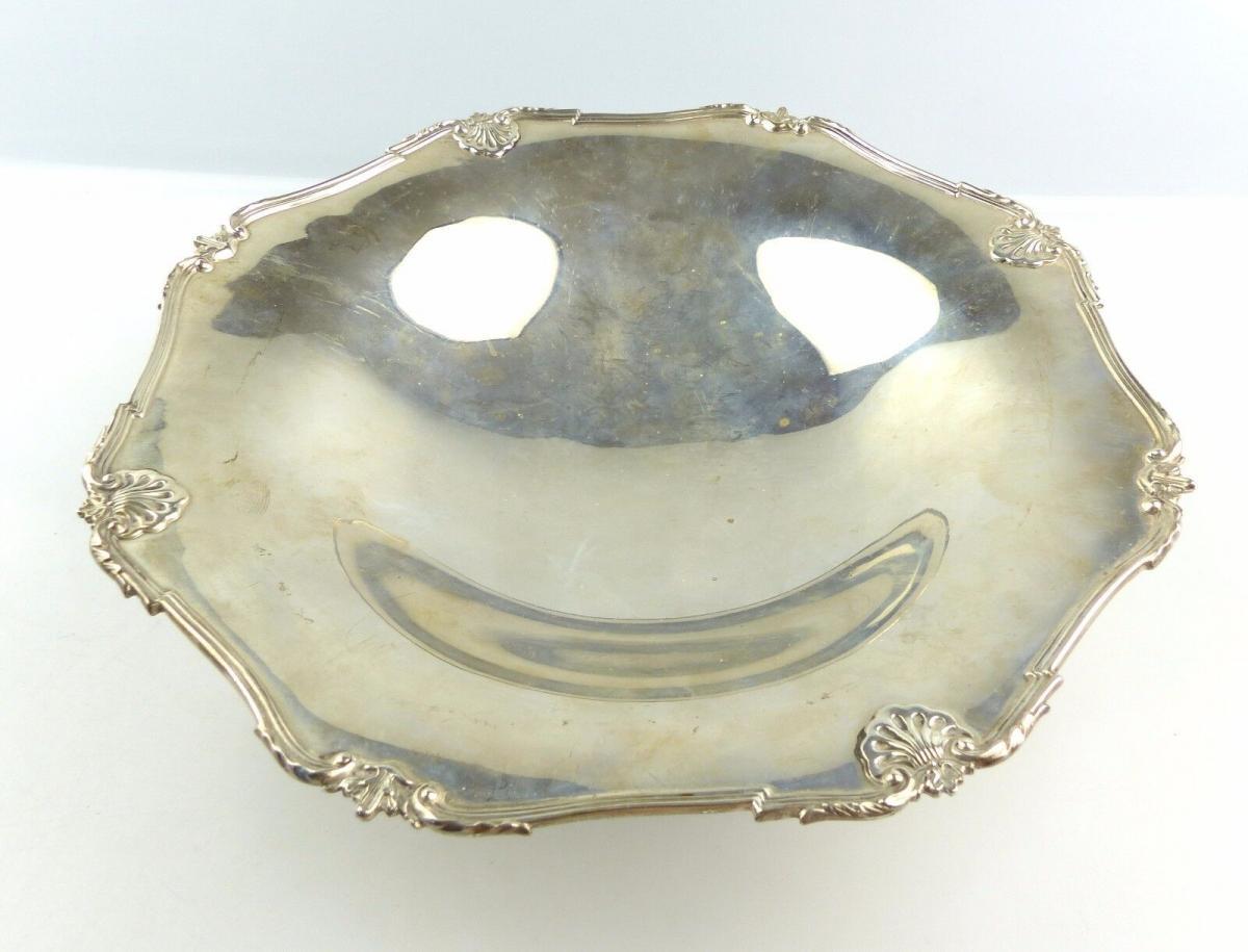 #e4923 Englische 925er Silber Schale / Obstschale aus Sheffield