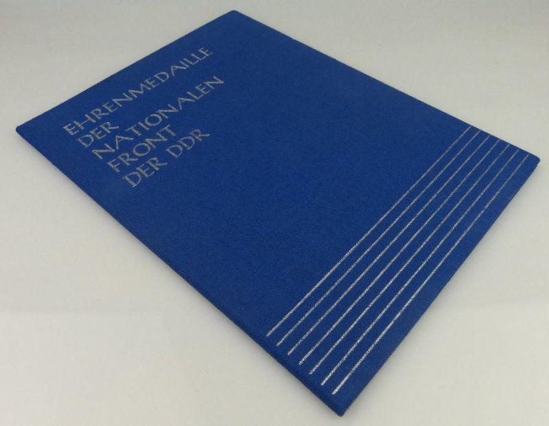 Urkunde: Ehrenmedaille der Nationalen Front der DDR 1982 verliehen, Orden1996