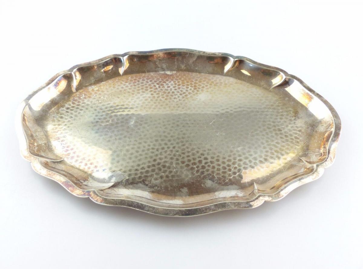 #e4922 Kleines Lutz & Weiss Tablett aus 835er Silber