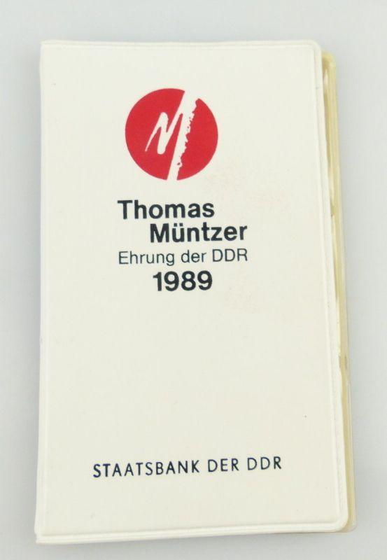 3 Medaillen : Thomas Müntzer Ehrung der DDR 1989 Staatsbank der DDR / r087