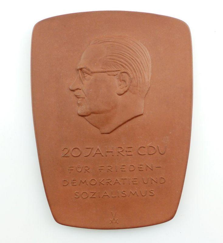 #e3519 Meissen Medaille 20 Jahre CDU für Frieden, Demokratie und Sozialismus DDR