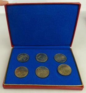 6 Medaillen: Sozialistische Wehrorganisation der DDR, silberfarben, Orden1534