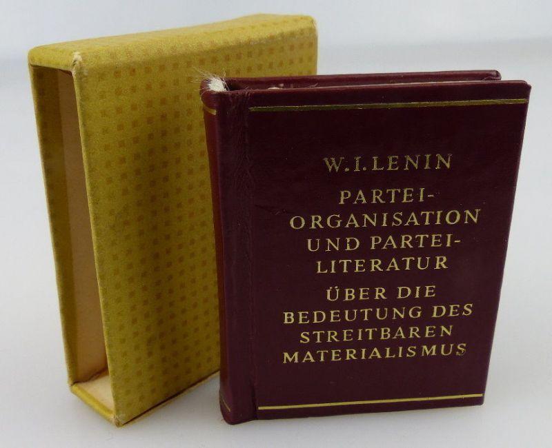 Minibuch: W.I. Lenin Parteiorganisation & Parteiliteratur über die Bed, Buch1640
