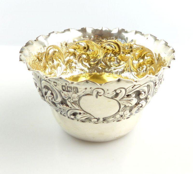 #e4902 Kleines englisches 925er Silber Schälchen aus London Silversmiths Company