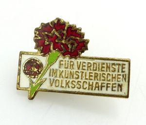 #e2751 Abzeichen für Verdienste im künstlerischen Volksschaffen DDR Nr.253