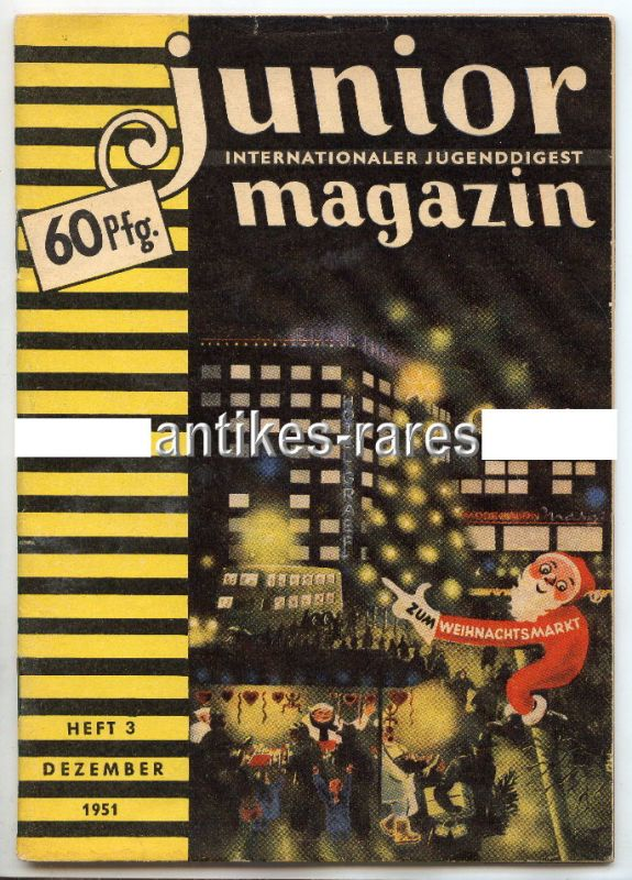 Junior internationaler Jugenddigest Magazin Heft 3 Dezember 1951