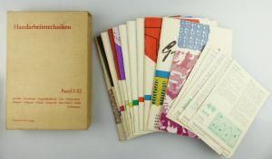 12 Hefte : Handarbeitstechniken Band I-XI Verlag für die Frau Leipzig e504