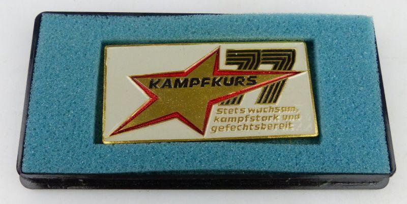 Medaille: Kampfkurs 77, Stets wachsam, kampfstark und gefechtsbereit, Orden1522
