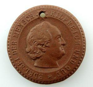 #e3509 Meissen Medaille Volkssolidarität Goethe Jahr 1949 edel sei der Mensch