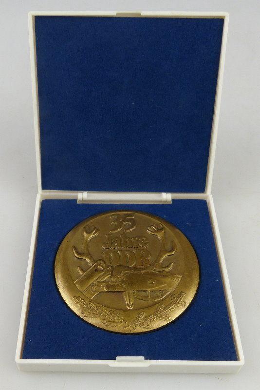 Medaille: 35 Jahre DDR, Jagd, bronzefarben, Orden1521
