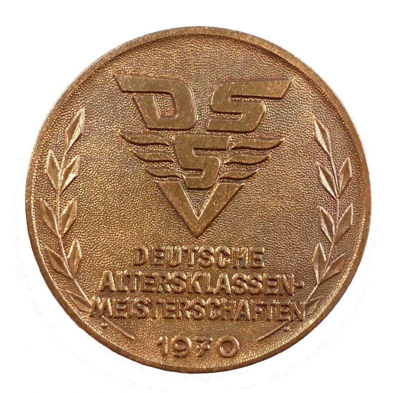 #e5339 DDR Medaille: DSSV (Deutscher Schwimmsport-Verband) Meisterschaften 1970