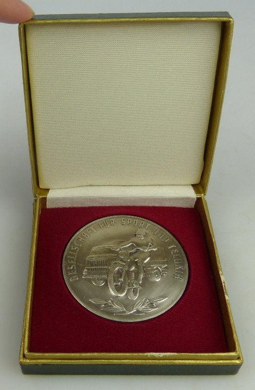 GST Medaille: Ehrengabe des Motorsportverbandes, silberfarben, Orden1520