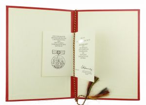 #e6782 DDR Urkunde + Mappe: Medaille zum 30. Jahrestag der Gründung der DDR 1979