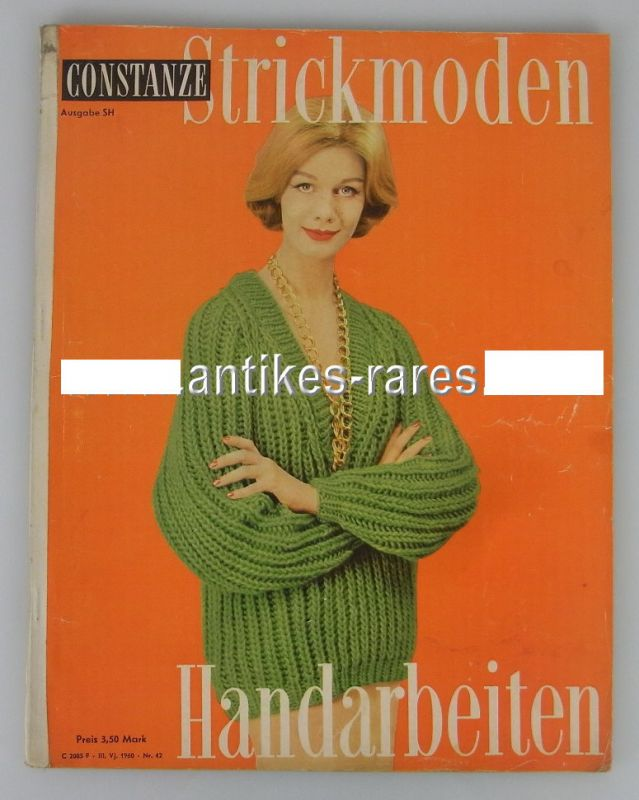 Katalog: Constanze Strickmoden / Handarbeiten Heft Nr. 10