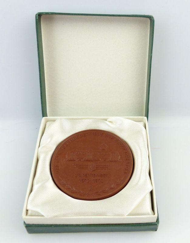 #e3502 Meissen Medaille 100 Jahre Straßenbahn Dresden 1972 VEB Verkehrsbetriebe