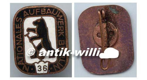 DDR Abzeichen Nationales Aufbauwerk Berlin 1956 bis 1960 or0258