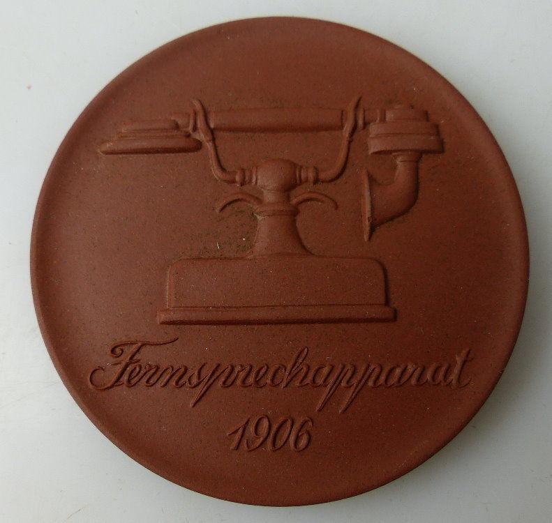 Meissen Medaille: Fernsprechapparat 1906, Postmuseum der DDR Berlin, Orden1503