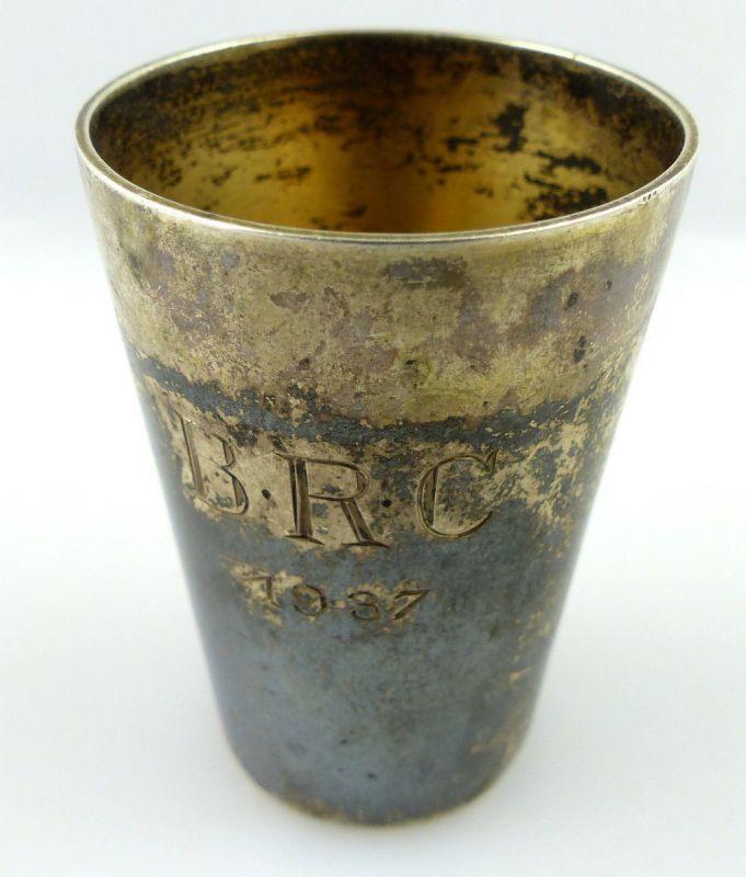 Original alter Schnapsbecher /Wodkabecher aus 835(Ag) Silber BRC 1937 e1198