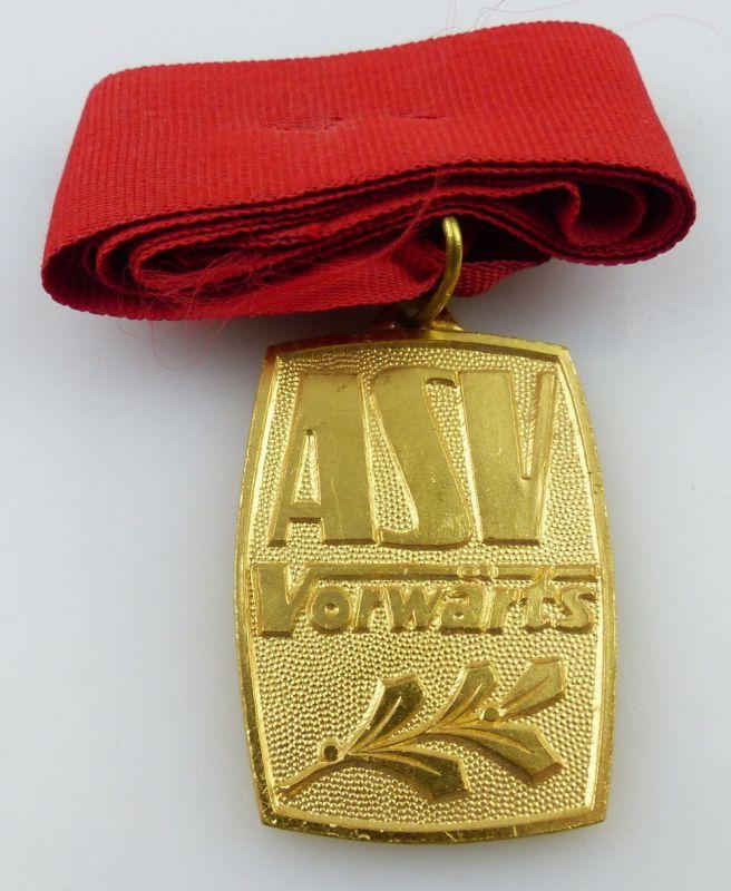 Medaille: ASV Vorwärts Armeesportvereinigung, goldfarben, Orden2536