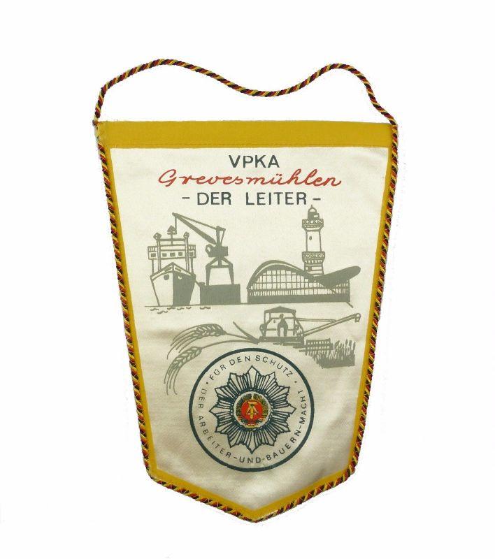 #e7163 Original alter DDR Wimpel VPKA Grevesmühlen -Der Leiter- Volkspolizei