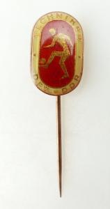#e1969 Techniker DFV DDR rot bronzefarben Deutscher Fußball Verband