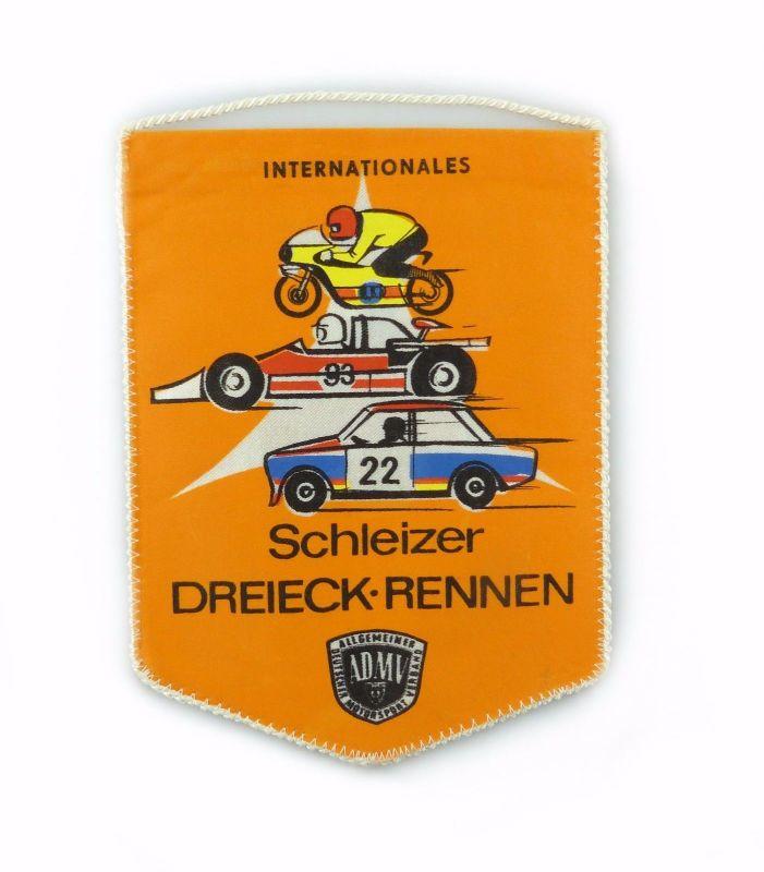 #e7161 Original alter DDR Wimpel Internationales Schleizer Dreieck Rennen ADMV