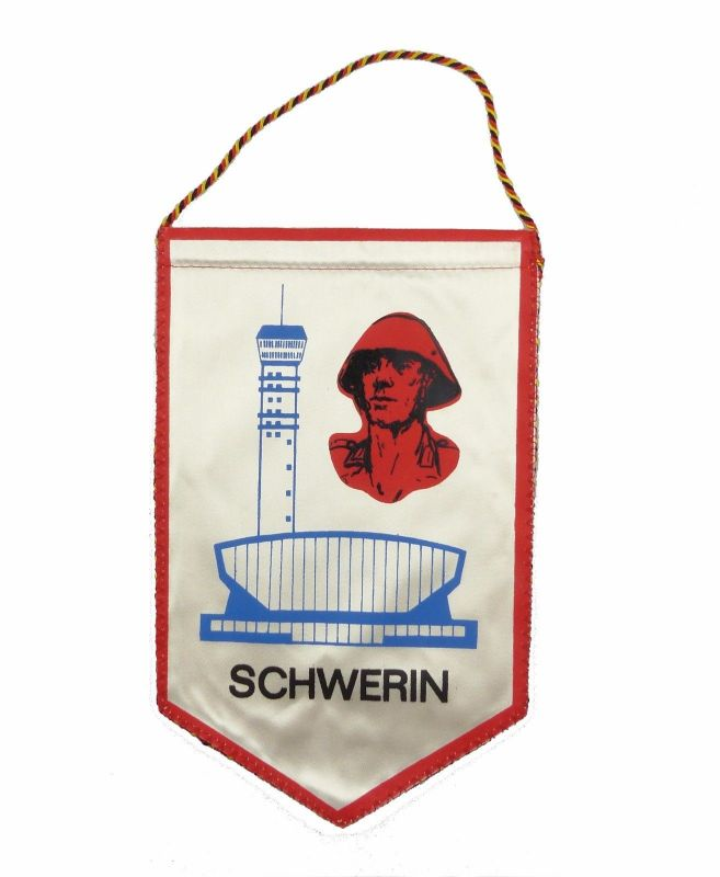#e7160 Original alter DDR Wimpel GeWA-8 Schwerin NVA