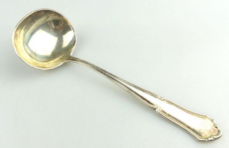 #e2718 Schöne alte Soßenkelle aus 800er Silber