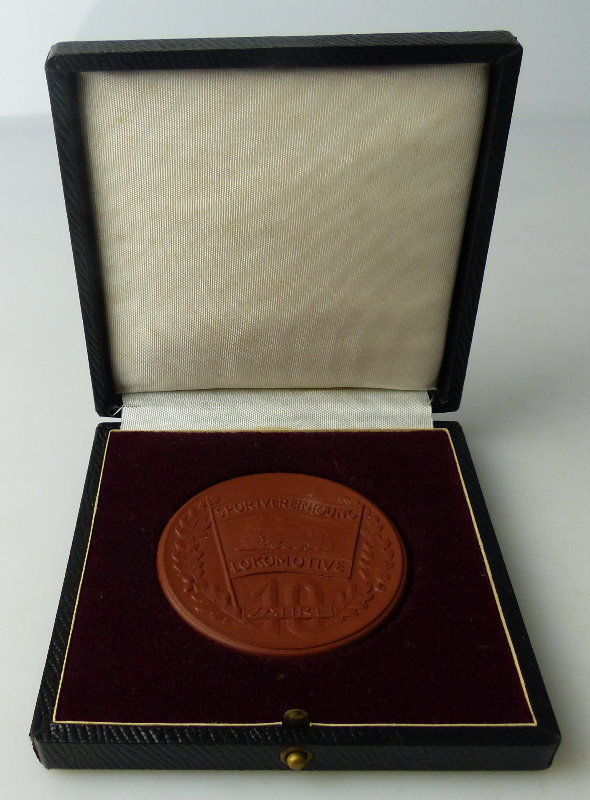 Meissen Medaille: DTSB Für gute Leistungen 1950-60 10 Jahre Lokomotive Orden1487