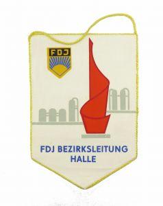 #e7155 DDR Wimpel X. Weltfestspiele der Jugend & Studenten 1973 Bezirksl. Halle