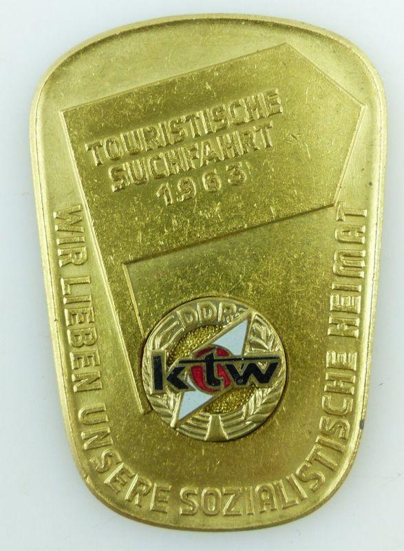 Medaille: Touristische Suchfahrt 1963 ktw DDR sozialistische Heimat e1553