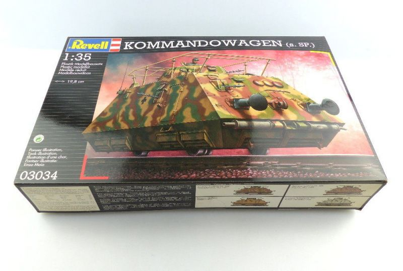 #e3095 Revell Modellbau Kommandowagen (s.SP.) 1:35 Panzer 03034 19,8 cm Niveau 4