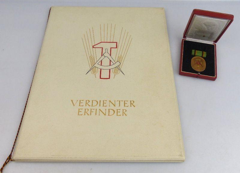 Orden1112 Verdienter Erfinder 1951 verliehen mit Urkunde, vgl. Band I Nr. 55c