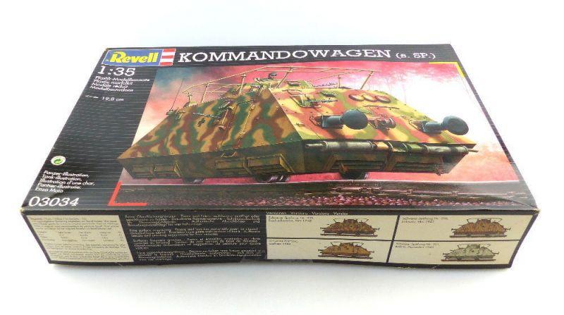 #e3098 Revell Modellbau Kommandowagen (s.SP.) 1:35 Panzer 03034 19,8 cm Niveau 4