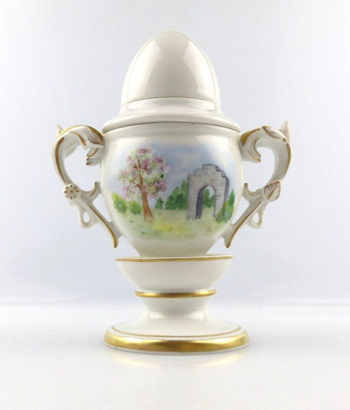 #e3866 Schöne alte chinesische Eierschale von PMP Plaue handbemalt S. Beck