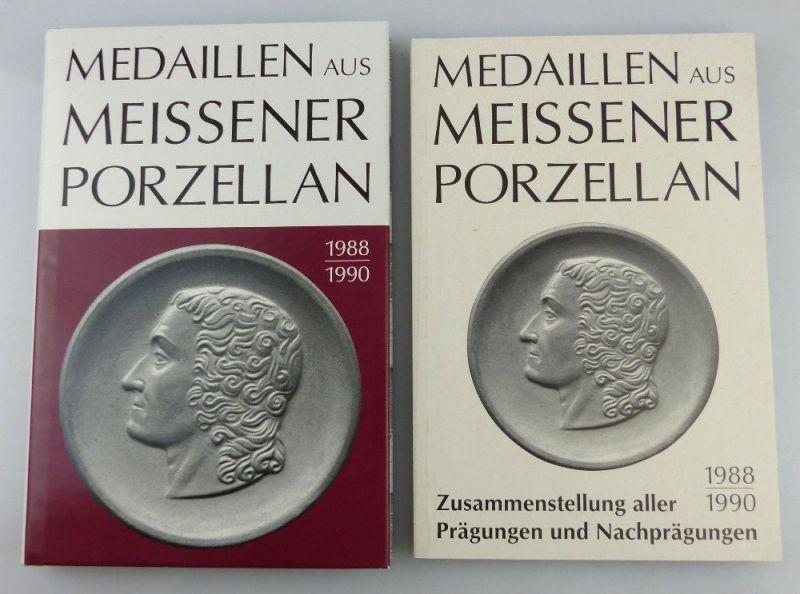 2 Bücher: Medaillen aus Meissner Porzellan 1988-1990 & Zusammenstellung
