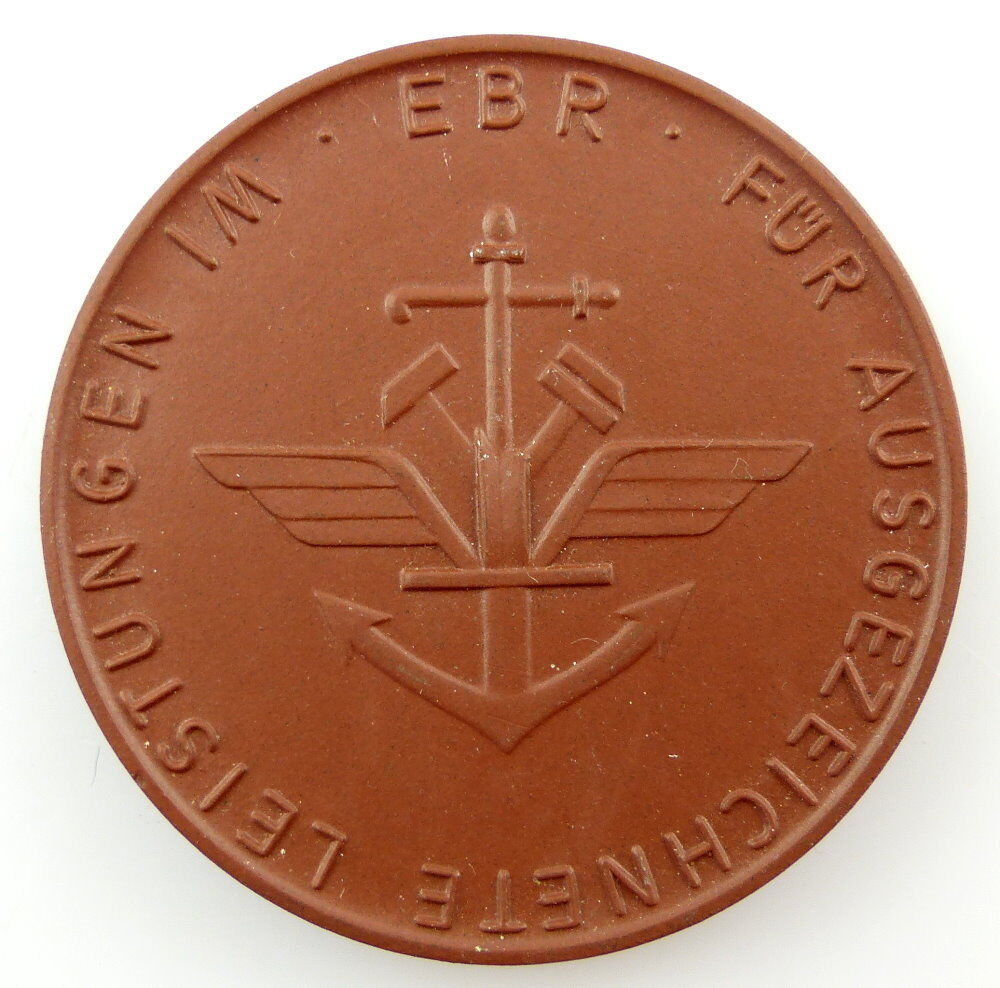 #e3470 DDR Meissen Medaille für ausgezeichnete Leistungen im EBR