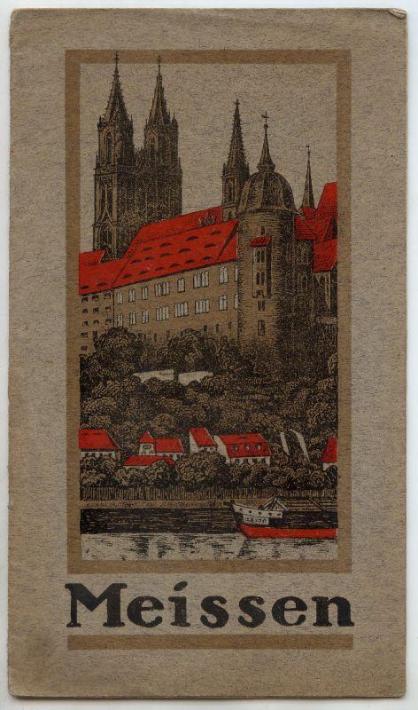 Werbebroschüre von Meissen mit Karte