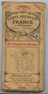 Carte Michelin de la France, St-Quentin-Reims (Buch0449)