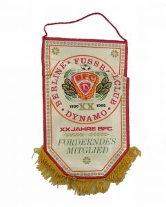 #e7144 Alter Wimpel 20 Jahre BFC Dynamo 1966-1986 Förderndes Mitglied Fußball