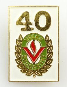 #e5708 Anstecknadel DDR Abzeichen 40 Jahre Volkssolidarität