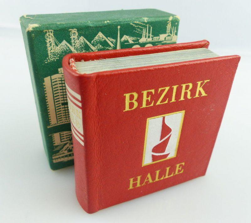 Minibuch: Bezirk Halle im 30. Jahr der DDR Verlag Zeit im Bild Dresden 1979 e128