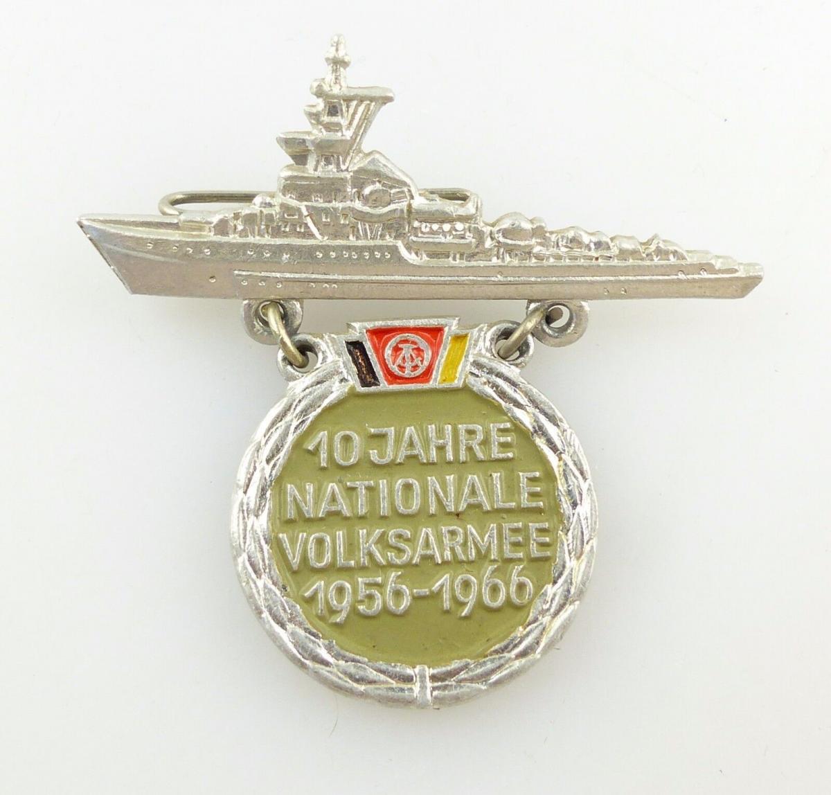 #e5707 Anstecknadel DDR Abzeichen 10 Jahre Nationale Volksarmee 1956-1966 Marine