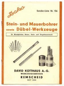 Broschüre: Dako Stein-& Maurerbohrer sowie Dübel-Werkze