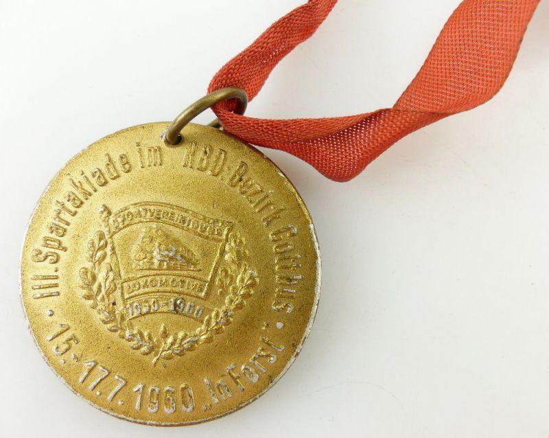 Medaille: Dem Sieger III. Spartakiade im RBD Bezirk Cottbus 1960 In Forst e1533