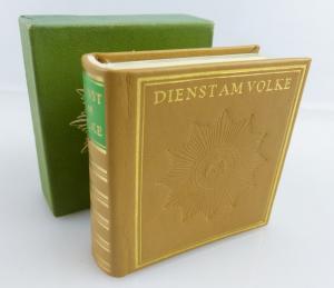 Minibuch: Dienst am Volke Leipzig 1982 Offizin Andersen Nexö e124