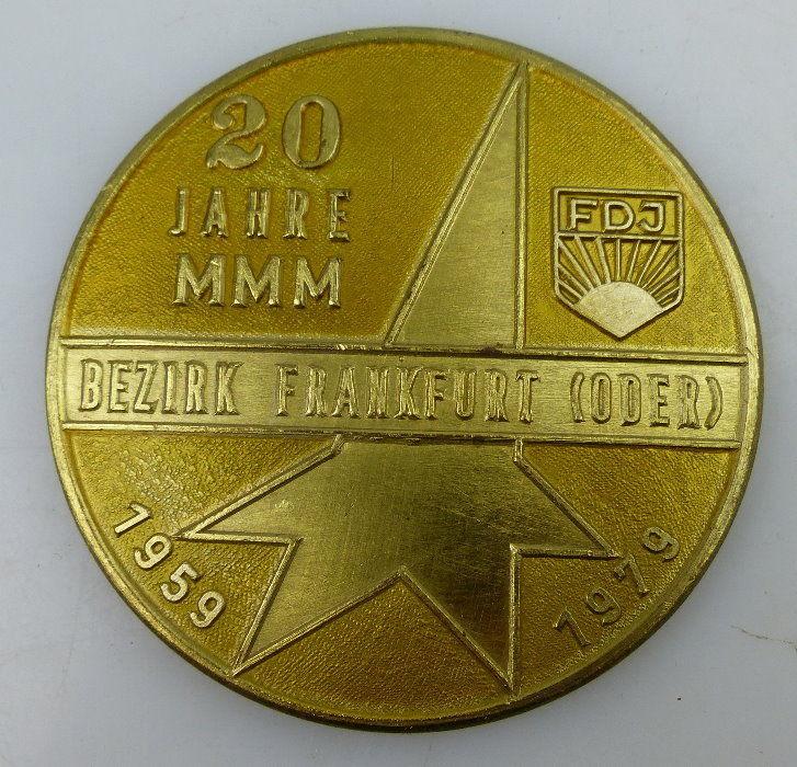 Medaille: 20 Jahre MMM Bezirk Frankfurt (Oder) In Anerkennung hervorr, Orden1470