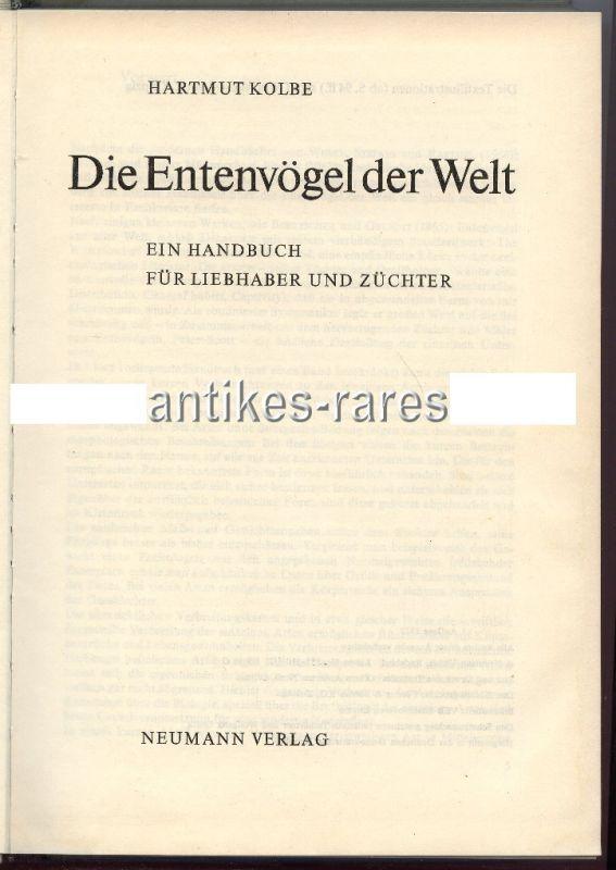 Entenvögel der Welt Handbuch für Liebhaber & Züchter 1972 Vögel Buch