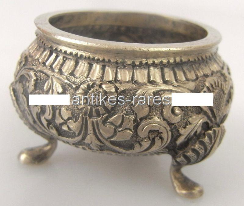 Dekorativer Gewürznapf Salziere in Silber geprüft